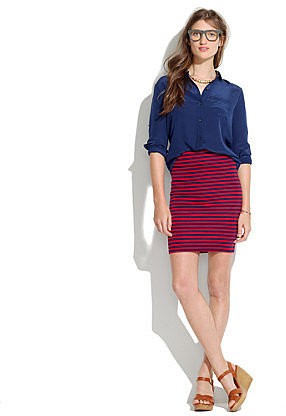 Striped downtown skirt