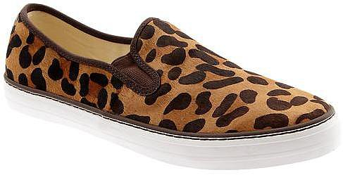 Animal print slip-on sneakers