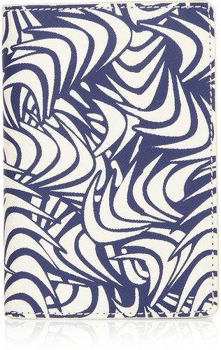 Diane von Furstenberg Printed leather passport cover