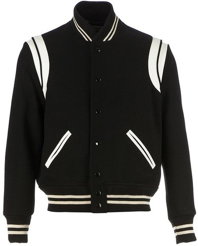 Saint Laurent striped bomber jacket