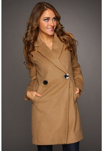 Vince Camuto - Double Breasted Peacoat (Camel) - Apparel