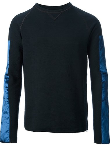 Lanvin paneled sleeve sweater