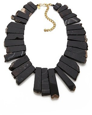 Kenneth jay lane Agate Graduated Stone Necklace