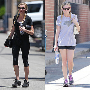 Kirsten Dunst Leaving the Gym in Pigtails: Workout Hairstyle