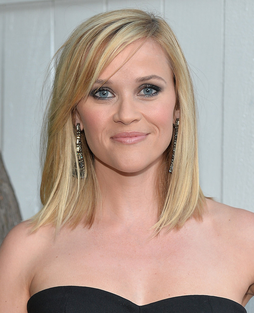Although we love Reese Witherspoon's hair with a bit of bend, a straight style is perfect for her current length.