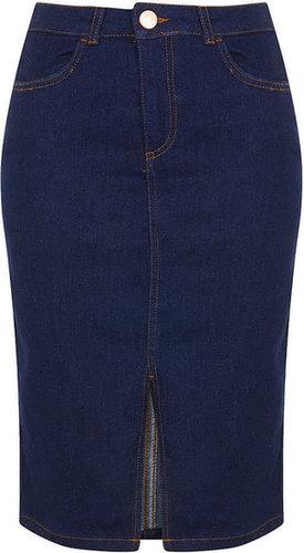 MOTO Indigo Denim Pencil Skirt