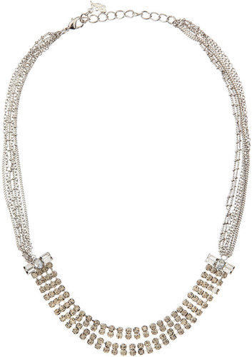 A. B. S. Rhinestone Multi-Chain Necklace