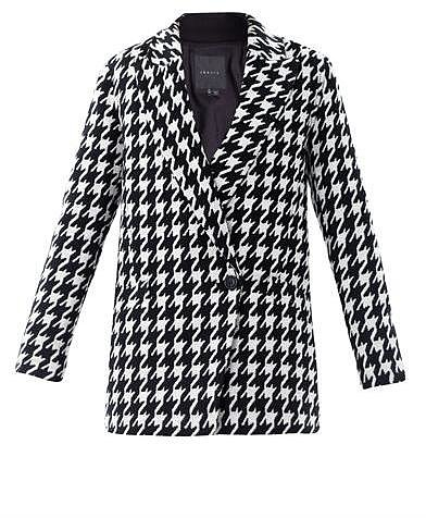 Theory Oversized houndstooth wool coat