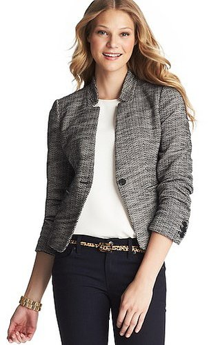 Stretch Cotton Tweed Jacket