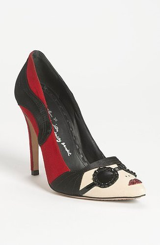 Alice + Olivia 'Stacey' Pump Scarlet/ Black 35.5 EU