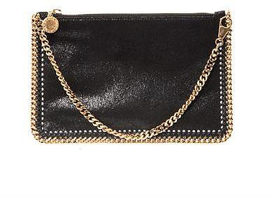 Stella McCartney Faux leather chain clutch bag