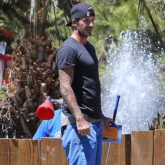 David Beckham Playing Mini Golf With His Sons