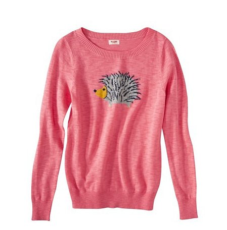 We can attest to the cuteness factor of this Mossimo Supply Co. Juniors Long Sleeve Hedgehog Sweater ($23) since we've seen it firsthand on our intern.