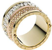 Michael Kors  Multi-Stone Barrel Ring, Golden