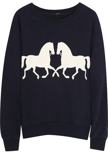 J.Crew Horsing Around cotton sweatshirt