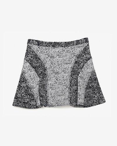 10 Crosby Derek Lam Exclusive Flare Weave Skirt