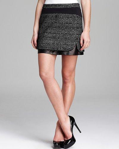 DIANE von FURSTENBERG Mini Skirt - Coletta Bonded Raffia Leather