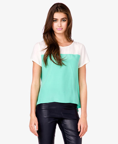 FOREVER 21 Essential Colorblocked Top