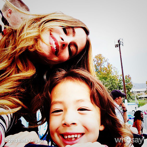 Sofia Vergara shared this silly snap with her Modern Family costar Aubrey Anderson-Emmons. Source: Sofia Vergara on WhoSay