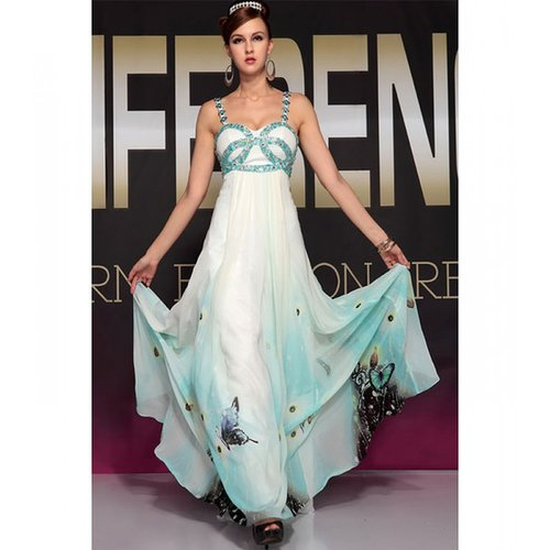 White satin dress with Print