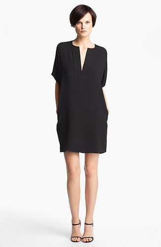 Vince Trapunto Silk Shift Dress