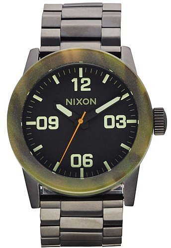 Nixon 'The Private' Camo Bezel Bracelet Watch, 42mm Matte Black/ Camo One Size