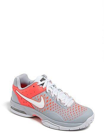 Nike 'Air Cage Advantage' Tennis Shoe (Women) Grey/ White 7.5 M