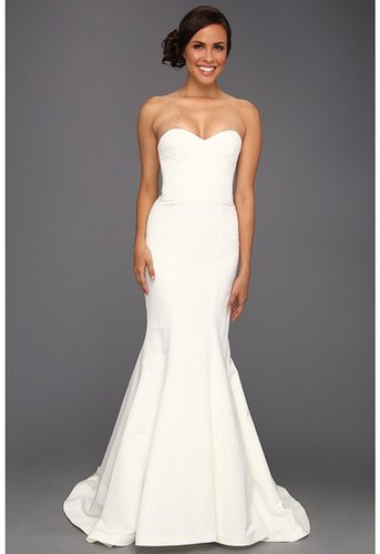 Nicole Miller - Dakota Silk Faille Strapless Gown (Ivory) - Apparel