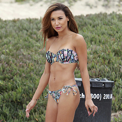 Naya Rivera in a Bikini on the Beach in Malibu