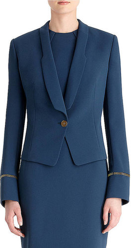RACHEL ROY Indigo Shadow Crepe Fitted Jacket