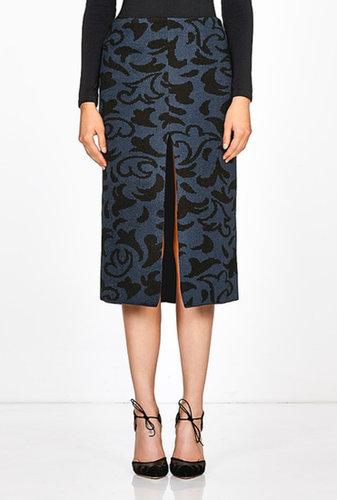 Lucas Nascimento Printed Front Split Tube Skirt