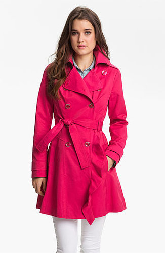 GUESS Ruffle Front Trench Coat (Regular & Petite) (Online Only) Large P