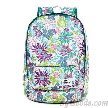 Fresh Flower Pattern Waterproof Backpack