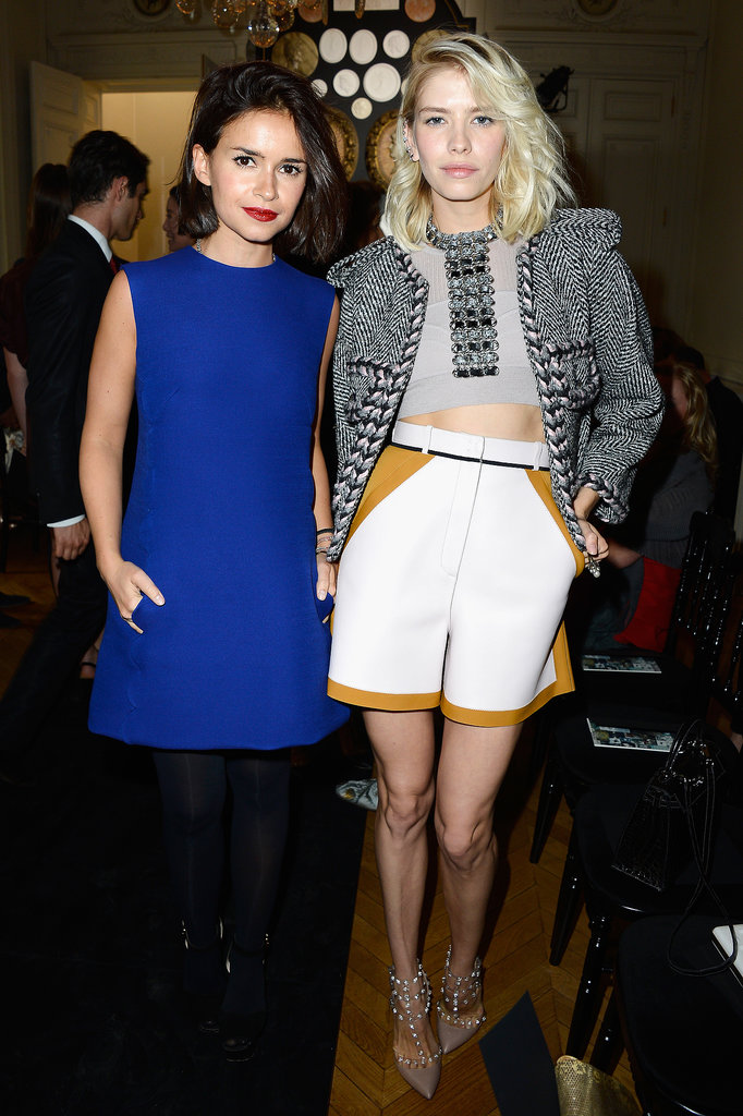 Photo of Elena Perminova & her friend, celebrity  Miroslava Duma