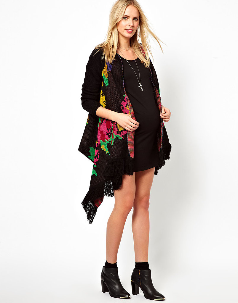You'll feel like you're enveloped in your favorite blanket while wearing this wrap maternity cardigan from Asos ($76). Plus, the pixelated floral print will put a cheery spin on the gloomiest of days.