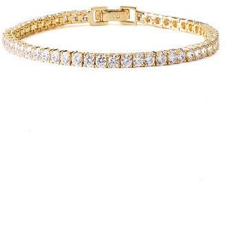 Nordstrom Tennis Bracelet Clear/ Gold Vermeil