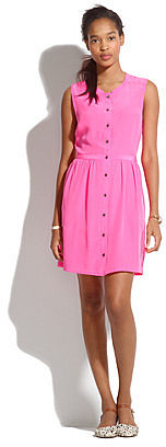 Sleeveless Silk Shirtdress