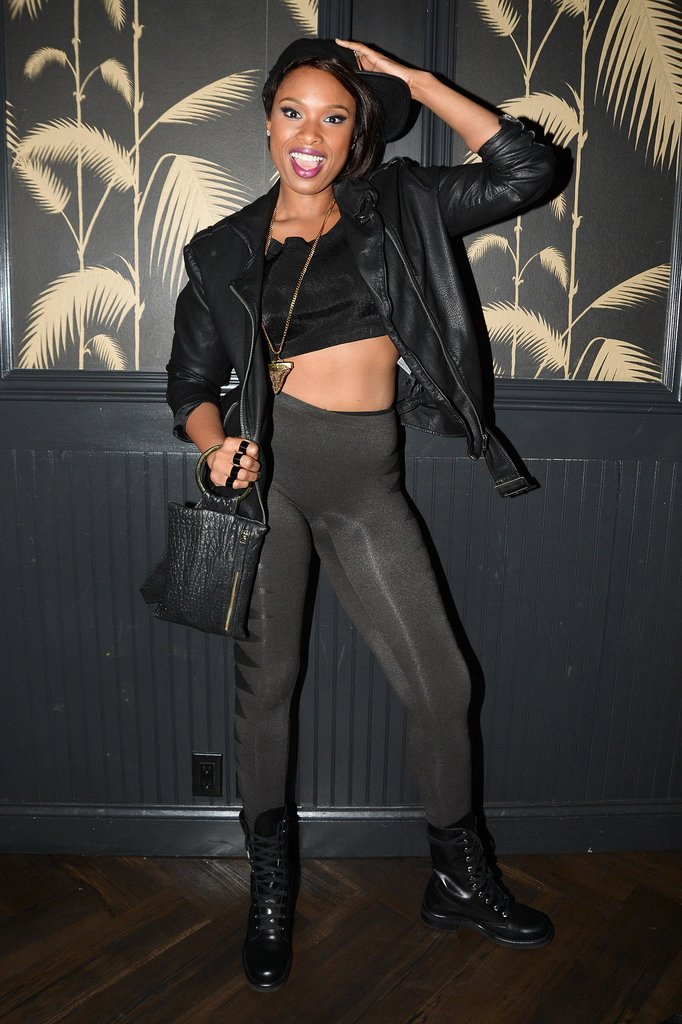 Jennifer Hudson showed off her midriff at the VMAs afterparty.