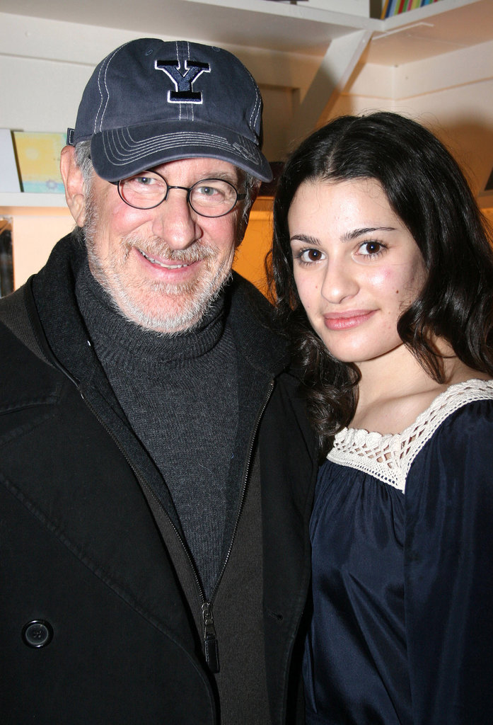 Steven Spielberg and his family checked out Lea's performance in Spring Awakening on Broadway in December 2006.