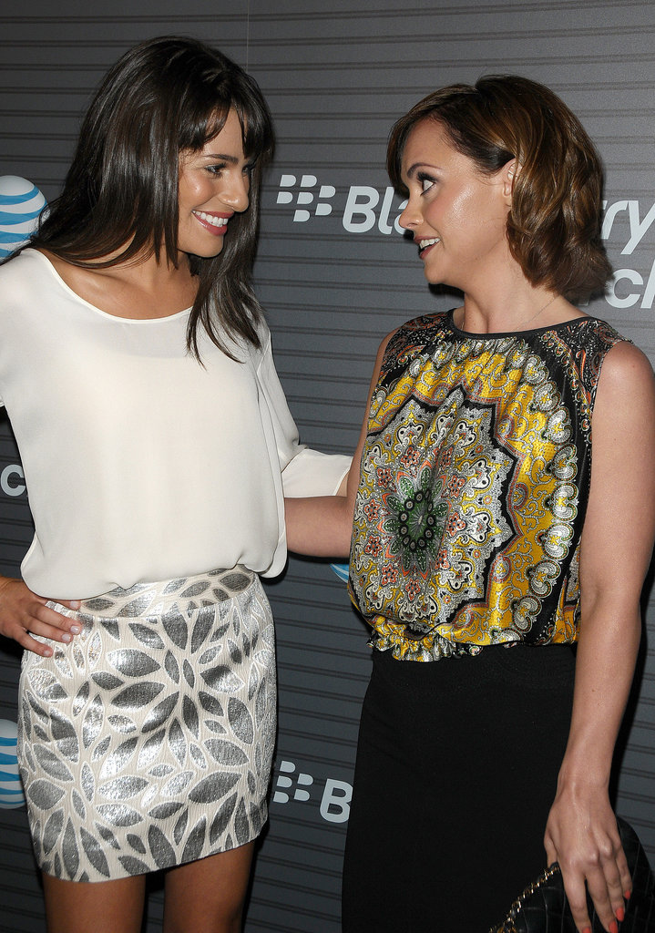 She and Christina Ricci met up at a Blackberry launch party in LA in August 2010.