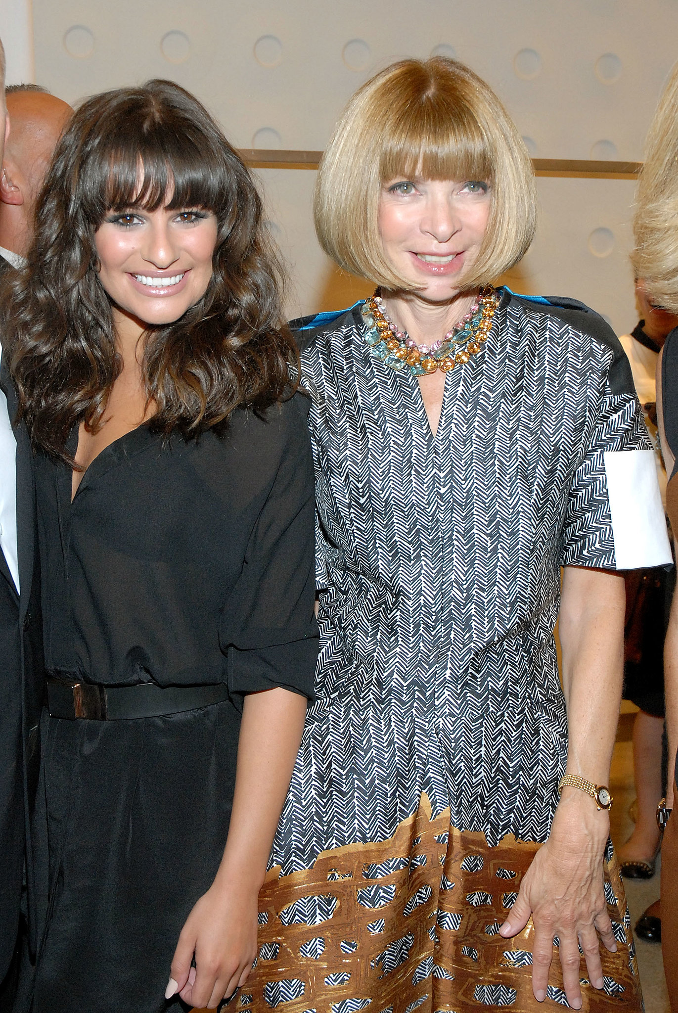 Lea posed with Vogue editor Anna Wintour at a Fashion's Night Out event in NYC back in September 2011.