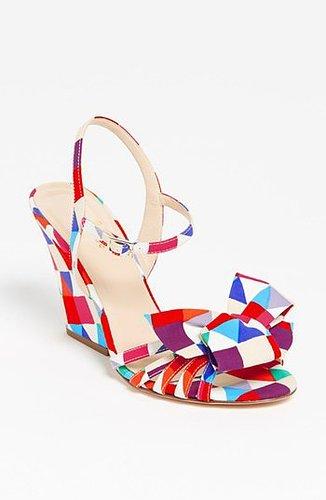 kate spade new york 'salem' wedge sandal Multi Triangle Print 9.5 M