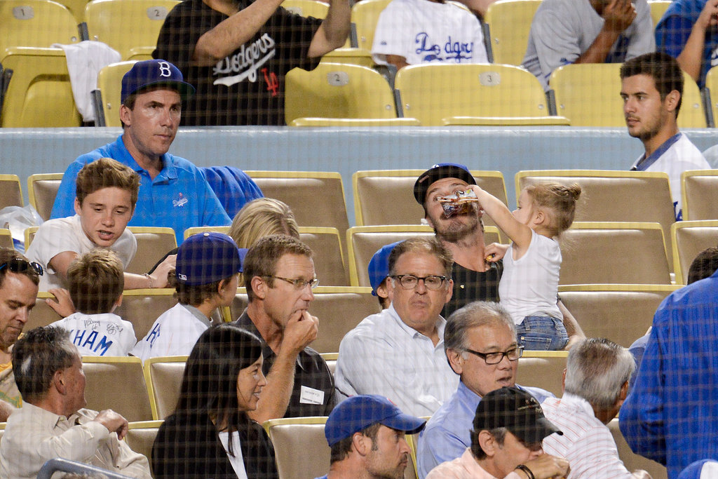 David Beckham Takes Harper Out to the Ball Game
