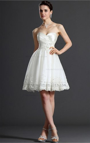 White A-line Sweetheart Mini Short Homecoming Dresses