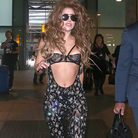 Lady Gaga at Heathrow Airport | Pictures