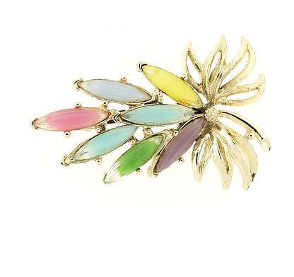 Lanie Lynn Vintage Jewelry Multicolor Flower Brooch