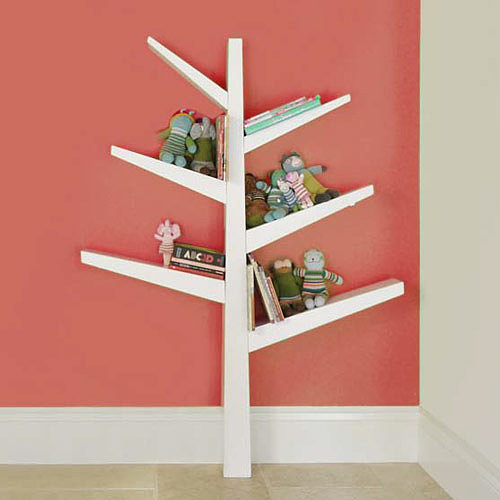 This cheerful Babyletto spruce tree bookcase ($199) adds a bit of whimsy to any tot's room. Holding 12 to 15 books per branch, this bookshelf is seriously functional. Crafted from poplar hardwood and finished with low-VOC lacquers, the bookshelf attaches securely to any wall in your child's room.