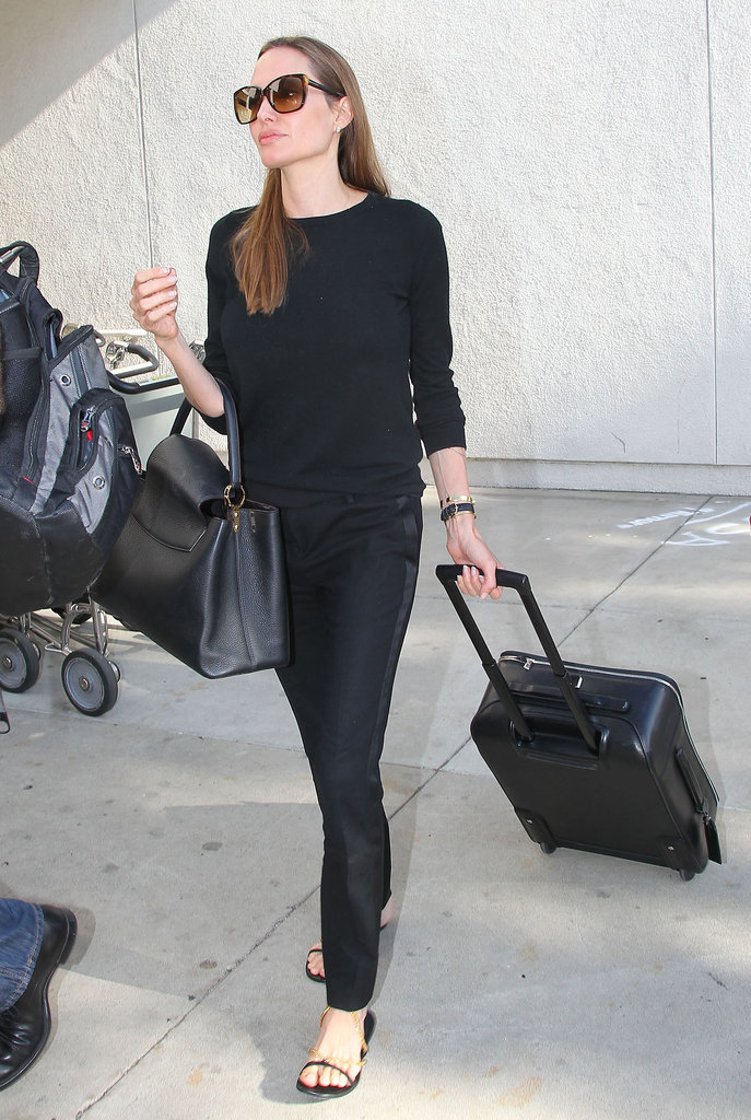Angelina Jolie Wore All Black Including A Pair Of Tuxedo Pants 91 Style Tips To Steal From