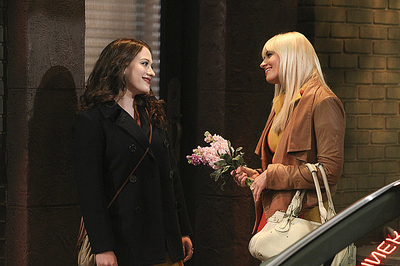 "2 Broke Girls Kat Dennings and Beth Behrs in ""And the Soft Opening,"" the season premiere of 2 Broke Girls, airing Sept. 23 on CBS."