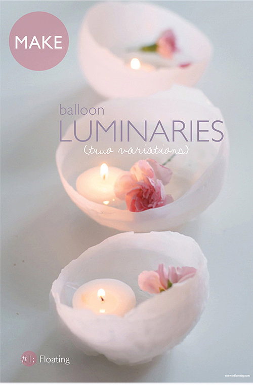 Balloon Wax Luminaries